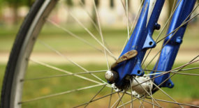 bicycle wheel close up